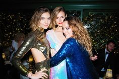 Arizona Muse, Jacquetta Wheeler, and Alice Temperley