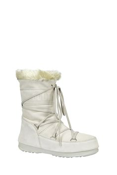 Moon boots Middle en cuir Butter Glace Moon Boot en promotion sur MonShowroom.com