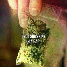 ..I'm happy feeling glad..I got sunshine in a bag..