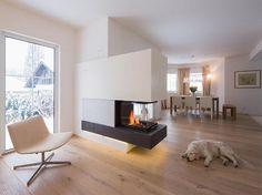 Ofen Wohnzimmer, Kachelofen Modern, Haus Boden, Kamin Modern, Offener Kamin,  Wohn
