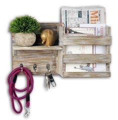 Multifunctional decorative Entryway Wall Mount Wid x D x H Small Shelves, Wood Shelves, Floating Shelves, Key And Letter Holder, Letter Holder Wall, Hanging Coat Rack, Torch Wood, Key Storage, Pantry Storage