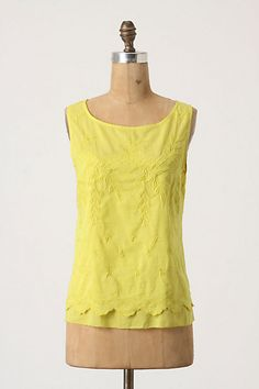 Anthropologie's Ethel Pullover in yellow