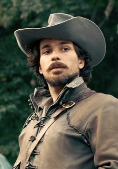 Santiago Cabrera who is HOT as Aramis on The Musketeers!