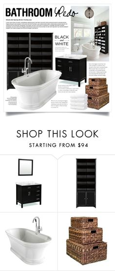 """""""Bathroom Redo 2145"""" by boxthoughts ❤ liked on Polyvore featuring interior, interiors, interior design, home, home decor, interior decorating, Home Decorators Collection and bathroom"""