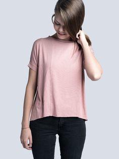 Tričko Bamboo Rose - minile.cz Bamboo, V Neck, Rose, Shopping, Fashion, Moda, Pink, Fashion Styles, Roses
