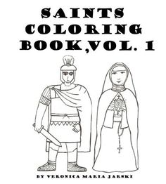 Catholic Saints Coloring Book. $5.00, via Etsy.