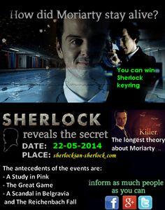 BBC Sherlock Moriarty fake death
