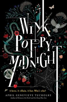 """Book cover design for """"Wink poppy midnight"""" by Tucholke // Illustrator: Lisa Perrin is an award winning illustrator and designer and finds her inspiration in folk art, Victorian decorative arts and the natural world."""