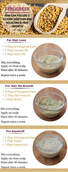 How to Use Fenugreek for Hair Loss, Hair Thinning and Hair Re-Growth ski. How to Use Fenugreek for Hair Loss, Hair Thinning and Hair Re-Growth skin Oil For Hair Loss, Stop Hair Loss, Prevent Hair Loss, Foods For Hair Loss, Hair Remedies For Growth, Hair Growth Tips, Hair Loss Remedies, Remedies For Thinning Hair, Hair Mask For Growth