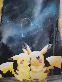 Pikachu Love by GandaKris on DeviantArt Cute Pokemon Wallpaper, Cute Disney Wallpaper, Cute Cartoon Wallpapers, Wallpaper Iphone Cute, Pichu Pikachu Raichu, Pikachu Art, Pikachu Memes, Pikachu Tattoo, Fotos Do Pokemon