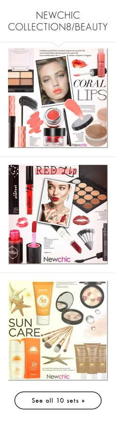 """NEWCHIC COLLECTION8/BEAUTY"" by helenevlacho ❤ liked on Polyvore featuring beauty, INDIE HAIR, Obsessive Compulsive Cosmetics, Burberry, beautyset, KAROLINA, Eve Lom, contestentry, springlips and glowup"