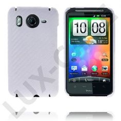 Carbonite (Hvit) HTC Desire HD Deksel Htc Desire Hd, Iphone