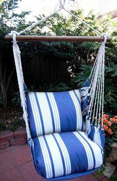 Marina Stripe Classic Hammock Chair Swing Set only $149.99 at Garden Fun - All Hammock Swings