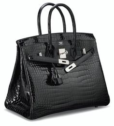 A SHINY BLACK POROSUS CROCODILE BIRKIN 35 BAG WITH PALLADIUM HARDWARE HERMÈS, 2011