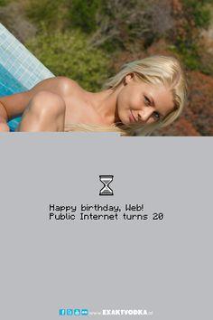 Happy birthday, Web!  #EXAKT #VODKA #EXAKTVODKA #PARTY Vodka, Happy Birthday, Gallery, Party, Movie Posters, Movies, Happy Aniversary, 2016 Movies, Happy B Day