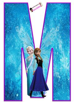 Frozen: Free Elsa and Ana Alphabet. Frozen: Bello Alfabeto Gratis de Elsa y Ana. Frozen Birthday Party, Elsa Birthday, Frozen Theme Party, Birthday Party Themes, Frozen Font, Frozen 1, Disney Font Free, Disney Fonts, Disney Silhouettes