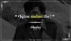 Sholay, Bollywood, Amzad Khan.