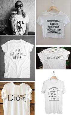 e0b8739e97291 45 mejores imágenes de Camisetas con frases en 2019