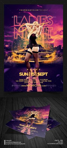 Ladies Night Out Flyer Template PSD | Buy and Download: http://graphicriver.net/item/ladies-night-out-flyer-template/8813465?WT.ac=category_thumb&WT.z_author=babud15&ref=ksioks