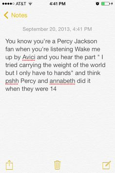 Percy Jackson controls my life... But that's totally ok :))