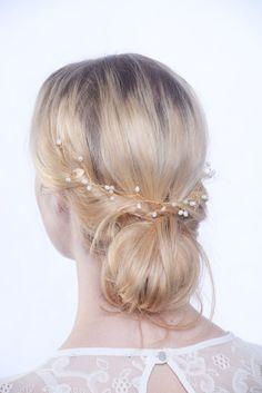 Gold hair vine bridal hair vine gold hair by CharlotteFarrBridal