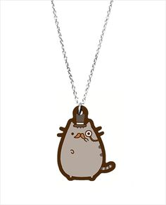 Love Pusheen --the adorably fat bloby cat... But fancy-Pusheen on a necklace? That's where it's at.