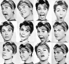 Female face expressions (Elizabeth Montgomery)