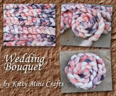 The shades of blackberry purple and dark peach contrast with the bright white wool and rose fiber to for a bouquet of loveliness for your spinning or felting pleasure!  #KittyMineCrafts #MMMakers #felting #spinning