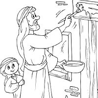 passover plagues coloring pages - photo#24