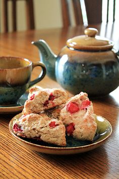 Strawberry Kefir Scones