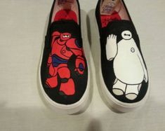 c893066e05 Custom Baymax Canvas Shoes Painted Sneakers
