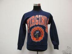 Vtg 90s Nutmeg Mills Virginia Cavaliers Crewneck Sweatshirt sz M Medium NCAA #Nutmeg #VirginiaCavaliers #tcpkickz