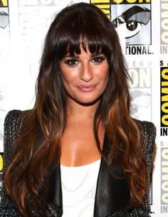 Lea Michele hairstyles: bangs vs. no bangs