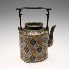 RISD Museum: Unknown artist, Chinese. Teapot, 19th Century. Porcelain with glaze, enamel, and gilding. 21 x 15.4 x 11.4 cm (8 1/4 x 6 1/16 x 4 1/2 inches) (maximum). Gift of Doris Duke's Southeast Asian Art Collection. 2004.12.15.