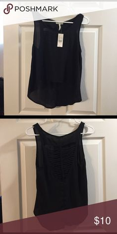 Black Pacsun tank Lace-back detail with braid Kirra Tops Blouses
