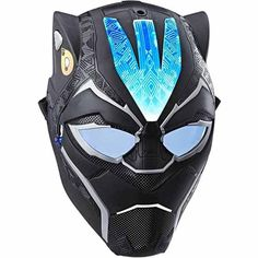 Imagine suiting up for battle as Black Panther with the Vibranium Power FX Mask, featuring pulsating and fixed light effects and awesome, movie-inspired design.   Press the button on the front of the mask to activate pulsating lights, then press a second time for fixed light.  Product size approx. inc. packaging 10.8 x 20.3 x 26.7 cm.  Kids toy mask is suitable for children aged 5 years and older.