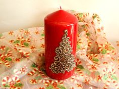 Pewter Embossed Decorative Candle Swirled Christmas Tree by Loutul, £18.00