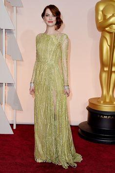 Emma Stone on the Oscars Red Carpet 2015
