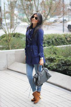 look do dia casaco trench coat jeans bota santiago chile borboletas na carteira fashion estilo style 4-10