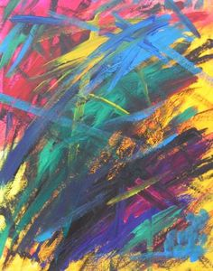 "Saatchi Art Artist Pandora Penn; Painting, ""Tai Chi Attack, Graffiti Impact Abstract"" #art"