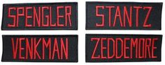 Who you gonna call? Well, Ghostbusters of course! If these name tags confuse you, then you probably haven't paid much attention to proper Ghostbusters attire. These name tags almost perfectly replicat