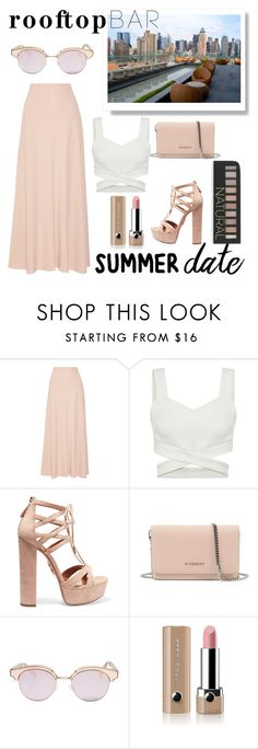 """""""Rooftop Bar - Summer Date"""" by ivasarlijaa ❤ liked on Polyvore featuring The Row, Aquazzura, Givenchy, Le Specs, Marc Jacobs, Forever 21, summerdate and rooftopbar"""