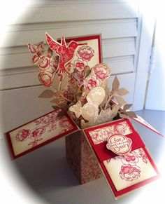 "Laura's Creative Moments: A vintage card in a box (""Elements of Style"", Stampin' Up!)"