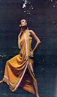 Deborah Dixon is wearing nightdress by Vanity Fair, photo by Bert Stern, Vogue US, Sept. 1964