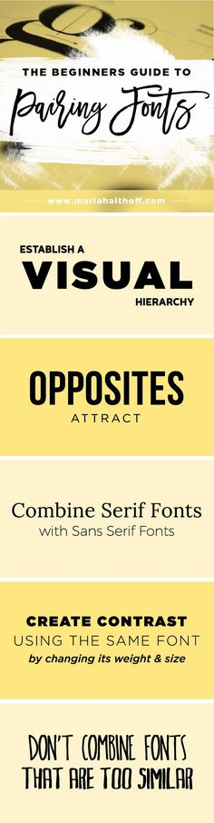 Business infographic : How to create an impactful font pairing is important for any DIY graphic designe