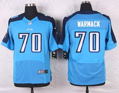 Light Blue Chance Warmack Youth Elite Tennessee Titans #70 Home NFL Jersey