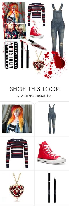 """Chucky "" by emo-oreo-cookie ❤ liked on Polyvore featuring moda, Madewell, Topshop, Converse, Sisley, CellPowerCases, women's clothing, women, female e woman"