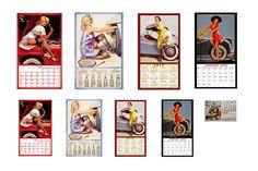 1:25 1:22 1:18 G scale model car auto shop garage pin up calendars