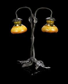 Emile Gallé Art Nouveau table lamp