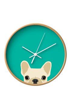 Frenchie clock